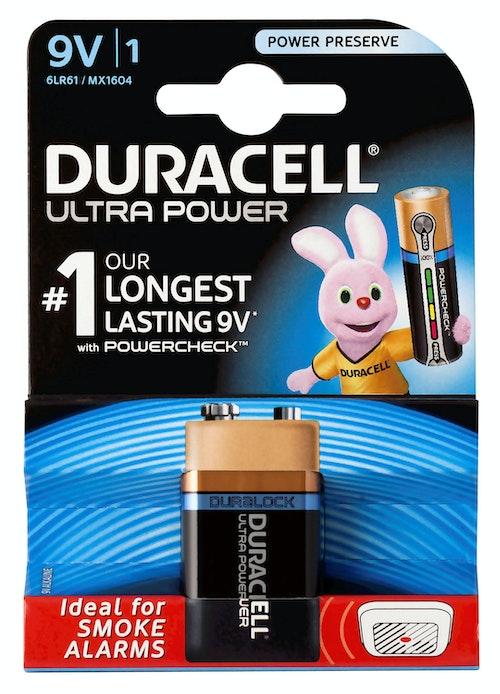 Duracell Duracell Batteri Ultra Power 9V, 1 stk
