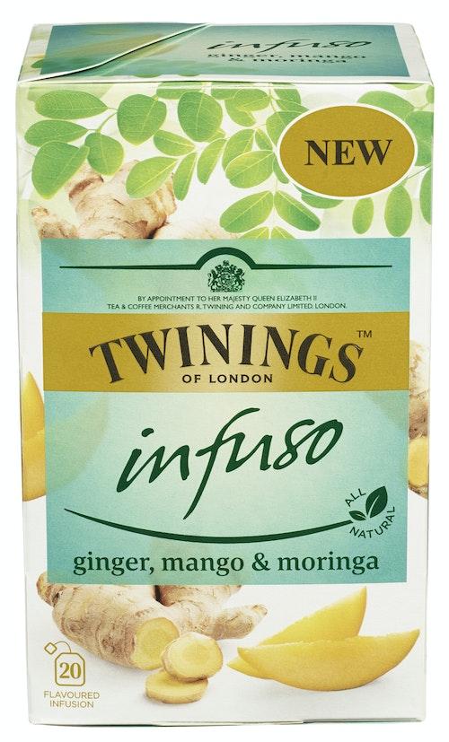 Twinings Ginger, Mango & Moringa Infuso, 20 stk