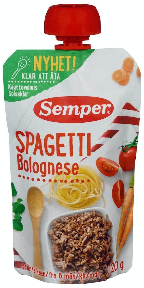 Semper Spaghetti Bolognese Spiseklar Fra 6 mnd, 120 g