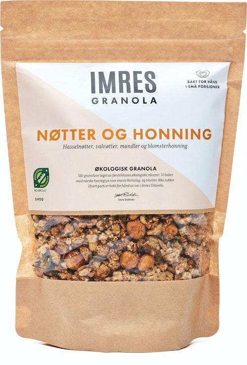 Imres Granola Økologisk Honning og Nøttegranola 340 g