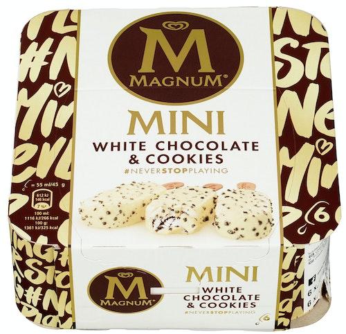 Magnum Magnum Mini White Chocolate Cookies 6 x 55ml, 330 ml