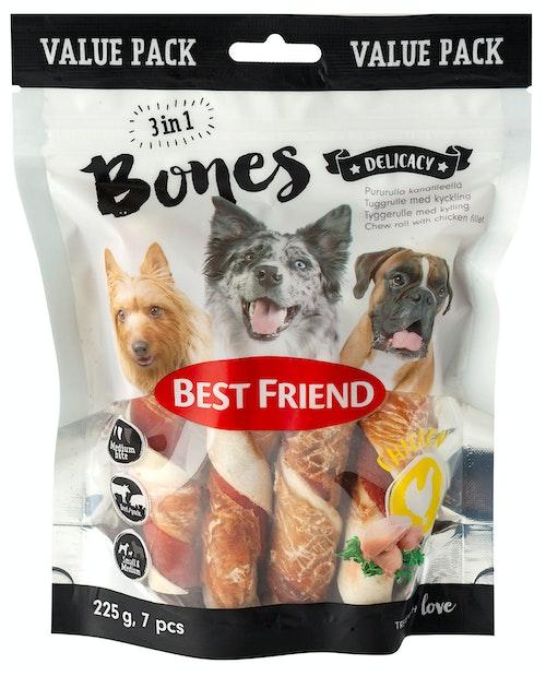 Best Friend Bones 3 in 1 Rull 7 x 12cm, 225 g