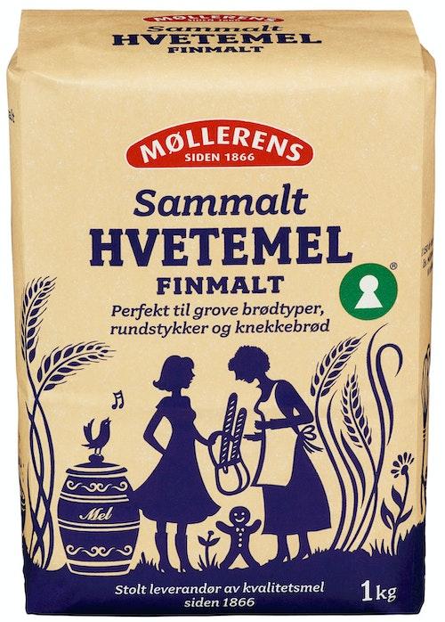 Møllerens Hvete Sammalt Fin, 1 kg