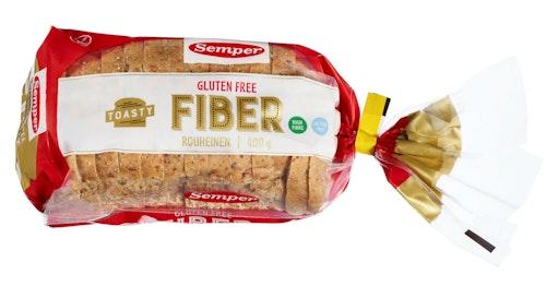 Semper Brød Toasty Fiber Glutenfri, 400 g
