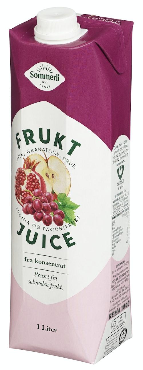 Sommerli Juice Med Granateple & Drue 1 l