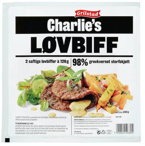 Grilstad Charlie's Løvbiff 240 g
