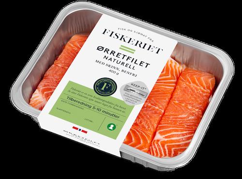 Fiskeriet Ørretfilet med Skinn Naturell, 400 g