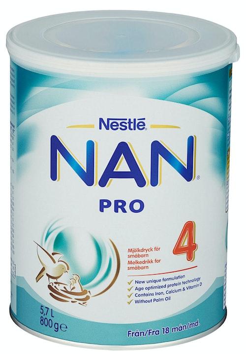Nestlé NAN Pro 4 Juniormelk Fra 18 mnd, 800 g