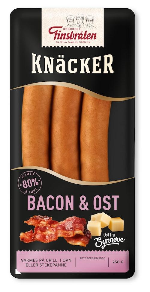 Finsbråten Bacon & Ost-Knacker 250 g