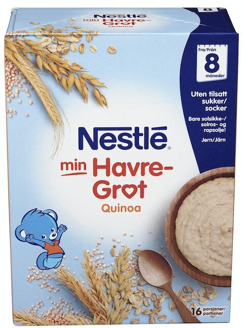 Nestlé Min Havregrøt Med Quinoa Fra 8 mnd, 480 g