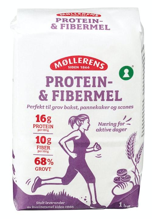 Møllerens Protein- og Fibermel 1 kg