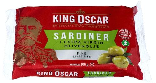 King Oscar Sardiner i Olivenolje 106 g