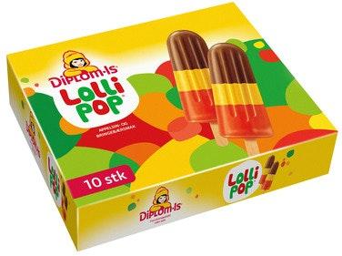 Diplom-Is Lollipop 10 stk, 630 ml