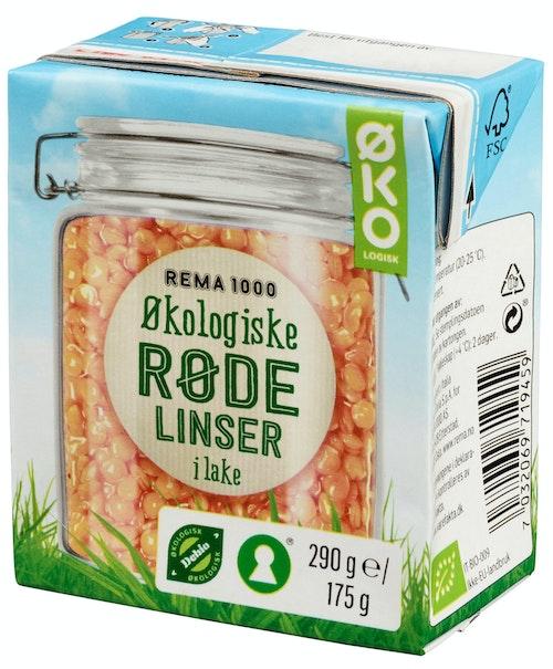 REMA 1000 Røde Linser Økologisk, 180 g