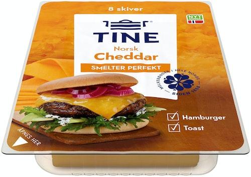 Tine Cheddar Burgerost Norskprodusert, 160 g