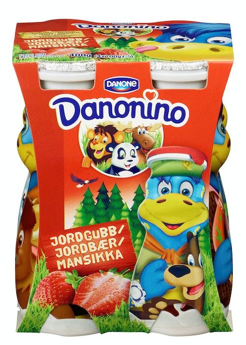 Danonino Danonino Drikkeyoghurt Jordbær 4x100g, 400 g