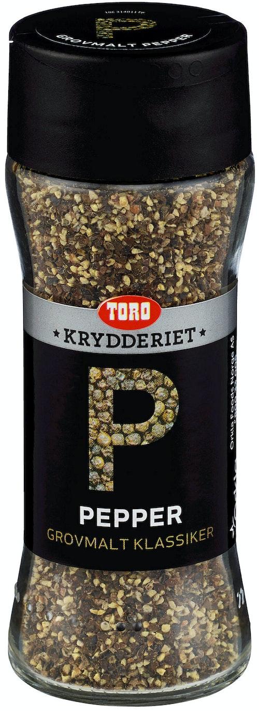 Toro Pepper Sort Grovmalt, 68 g