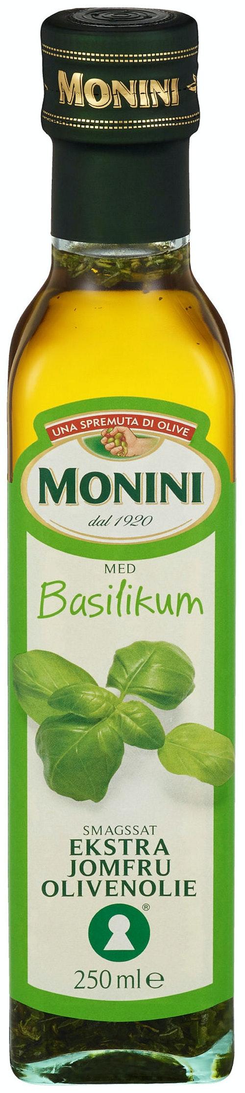 Monini Olivenolje Basilikum, 250 ml