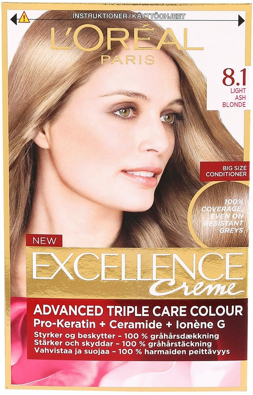 L'Oreal Excellence 8,1 Lys Askeblond 1 stk