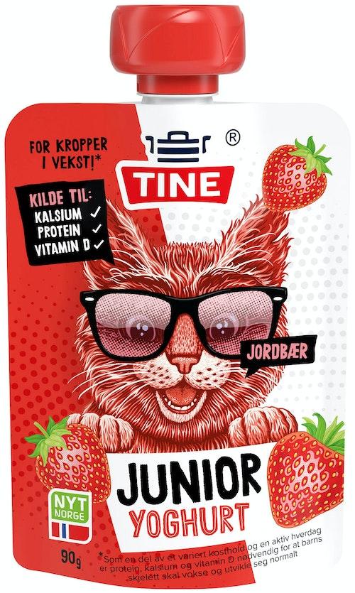Tine Junior Yoghurt Jordbær, 90 g