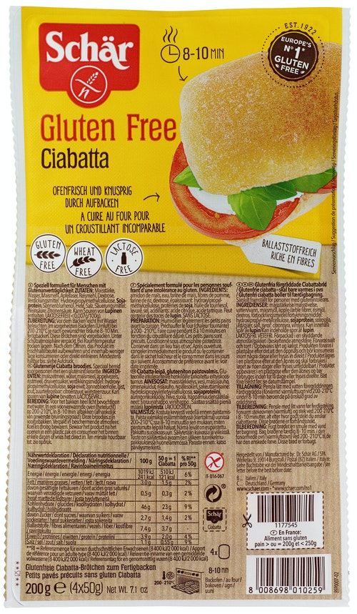 Schär Ciabatta Glutenfri, 200 g