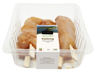 Ytterøy Kylling Kebab Grillspyd Av Kyllingfilet 6 stk