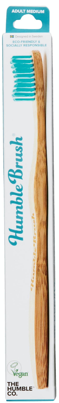 Humble Brush Tannbørste Medium Blå Voksen ,100% Nedbrytbar, 1 stk