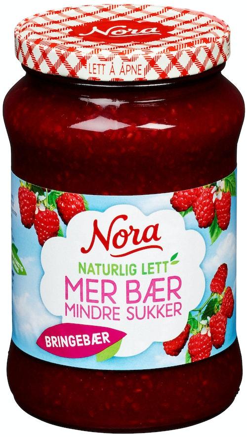 Nora Bringebærsyltetøy Lett 540 g