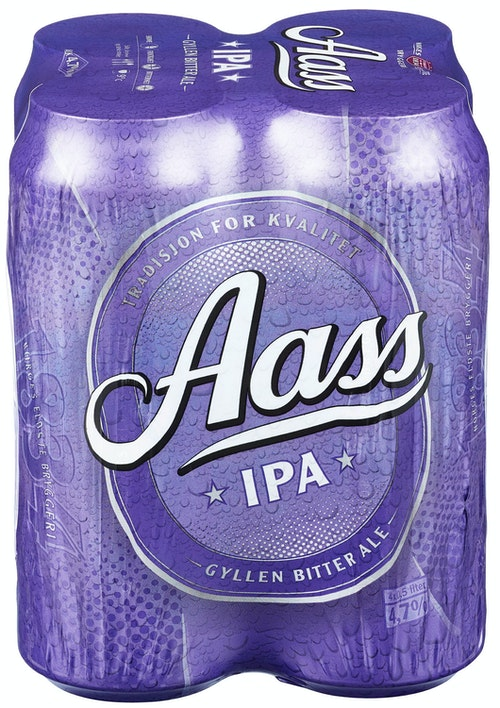 Aass Bryggeri Aass IPA 4x0,5 liter, 2 l