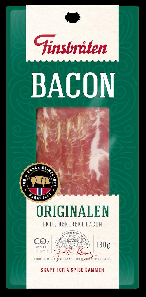 Finsbråten Bacon i Skiver, 130 g