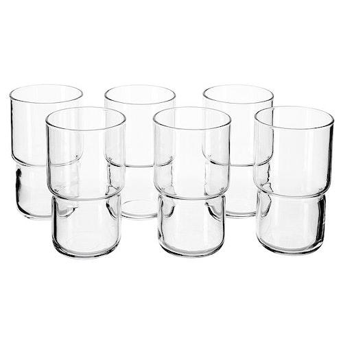 Drikkeglass 32cl (klart glass), 6 stk
