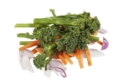 Stekemix med Aspargesbrokkoli, Gulrot & Løk Kenya, 200 g