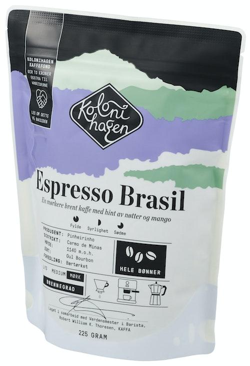 Kolonihagen Espresso Brasil Hele Bønner, 225 g