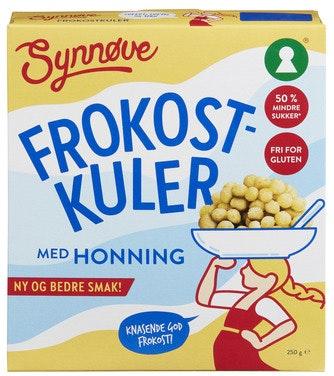 Synnøve Frokostkuler med Honning Glutenfri, 250 g