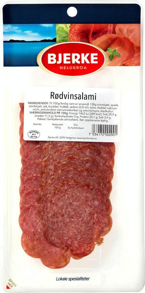 Bjerke Spekemat Rødvinsalami 100 g