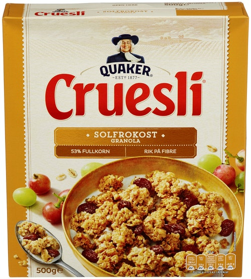 Quaker Crusli Solfrokost 500 g