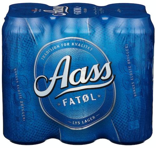 Aass Bryggeri Aass Fatøl 6x0,5 liter, 3 l