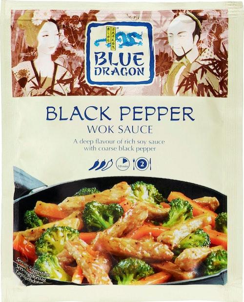 Blue Dragon Black Pepper Woksaus, 120 g