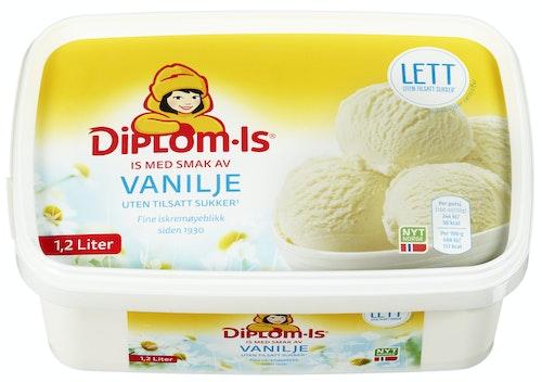 Diplom-Is Vaniljeis Lett Uten Tilsatt Sukker, 1,2 l