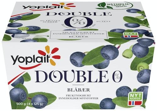 Yoplait Yoplait 00% Blåbær, 4x124g, 500 g