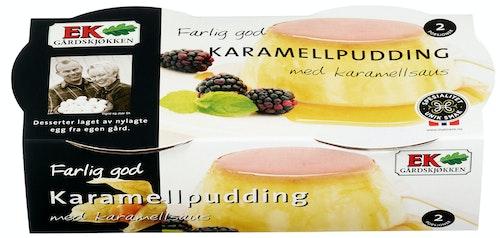 Ek Gårdskjøkken Karamellpudding 2 stk