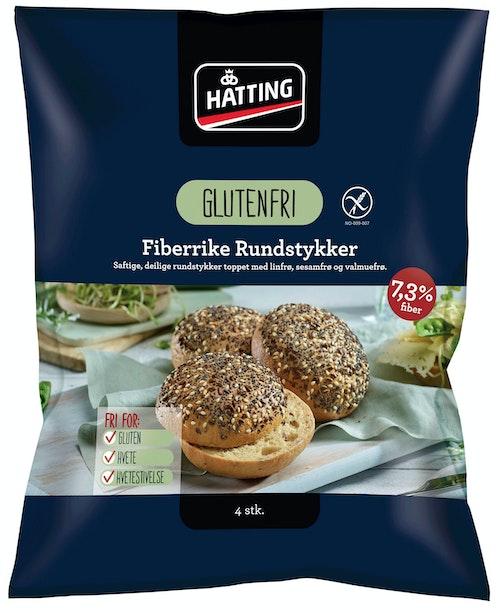 Hatting Glutenfrie Fiberrundstykker 4 stk, 420 g