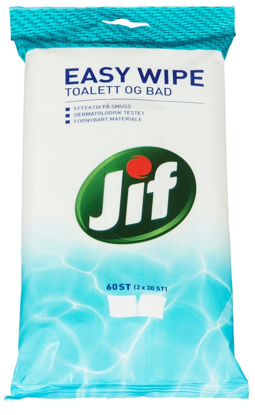 Jif Easy Wipe Toalett og bad, 60 stk