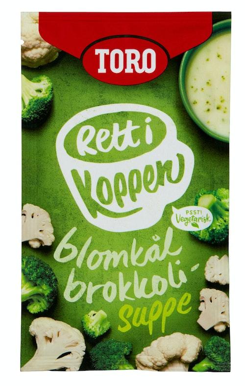 Toro Blomkål- & Brokkolisuppe Rett i Koppen, 20 g