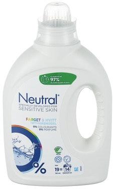 Neutral Flytende Maskinvask Farget&Hvitt 760 ml