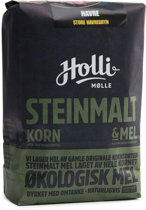 Holli Mølle Økologiske Store Havregryn Steinmalt, 700 g