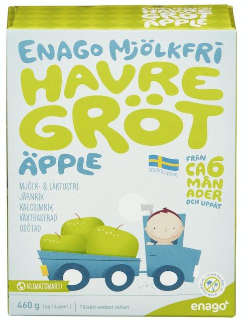 EnaGo Grøt u/melk eple Fra 6 mnd, 460 g