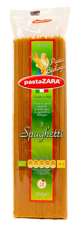 Pasta Zara Økologisk Fullkorn Spaghetti 500 g