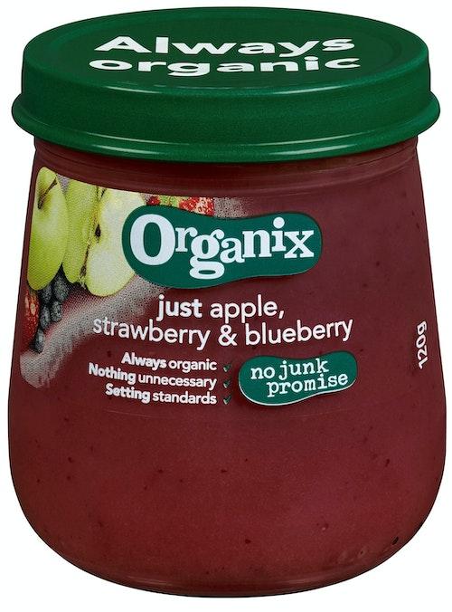 Semper Organix Eple, Jordbær & Blåbær Fra 6 mnd, 120 g