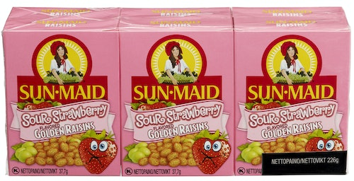 Sun·Maid Rosiner Sour Strawberry 6 x 37,7g, 226,2 g